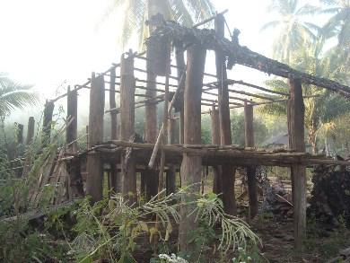 House destroyed by DKBA