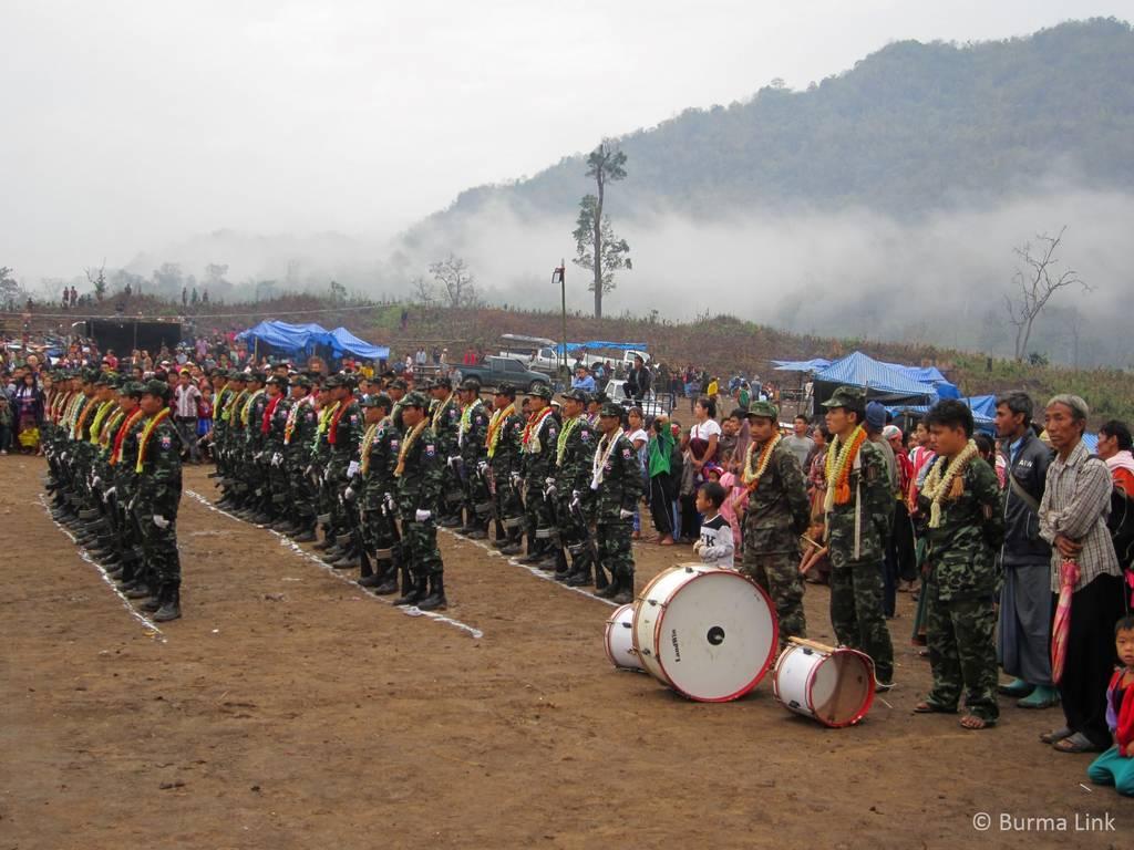 Karen soldiers on Revolution Day