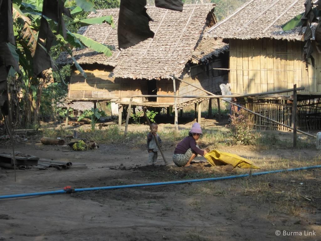 Village rebuilt by the KNU