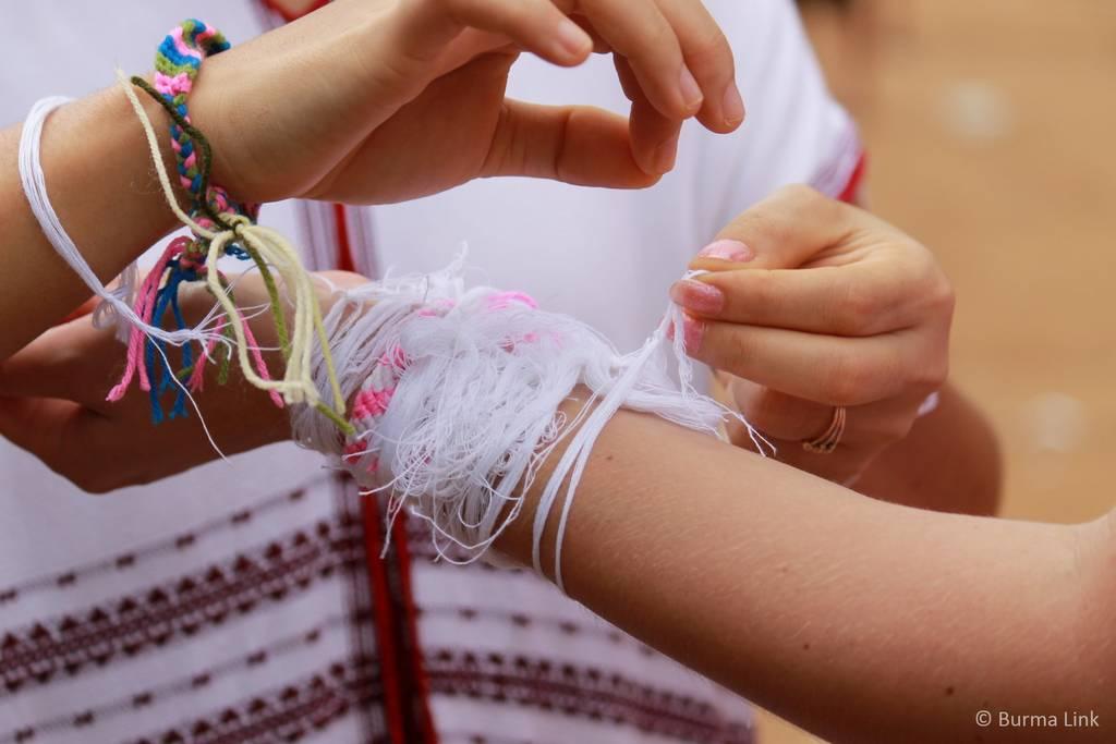 Karen wrist tying ceremony