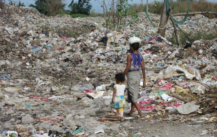 'We got nothing except a place to stay in the rubbish dump'