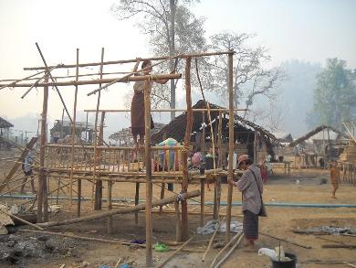 Dismantling huts