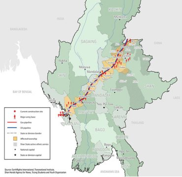 Shan Farmers Urge Gas Pipeline Project to Be Moved - Burma Link