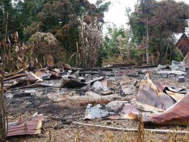 Village destroyed