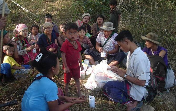 IDP camp inside Burma