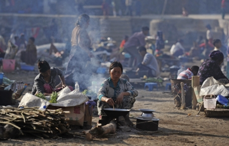 5,000 Displaced by Kachin Clashes Amid KIO Leader's US Visit