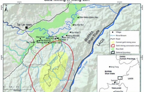 Eastern Shan State villagers call for an immediate end to destructive gold mining operations