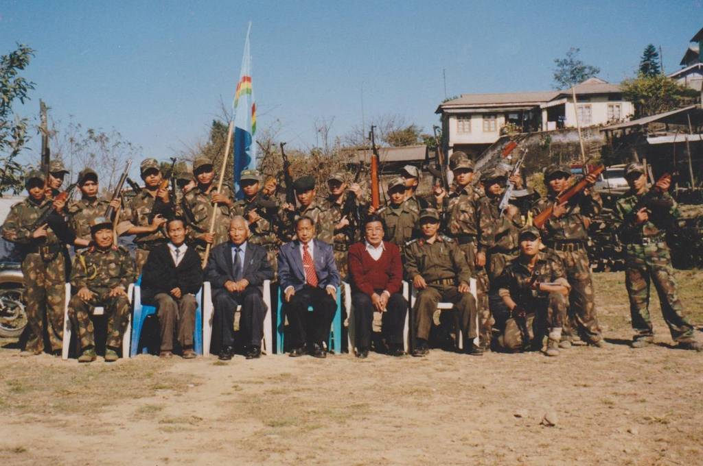 The Naga Army soldiers with their Authorities of Federal Government of Nagaland