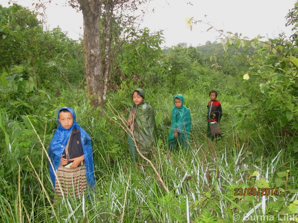 These ethnic Kayan children spend four hours every day walking through the jungle in order to attend school.