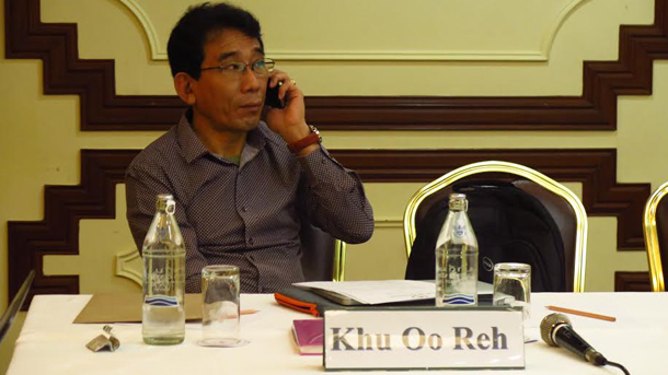 Khu Oo Reh, vice-chairman of the Karenni National Progressive Party. (Photo: The Irrawaddy)