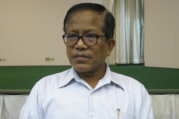 Nai Hong Sar, vice-chairman of the New Mon State Party. (Photo: The Irrawaddy)
