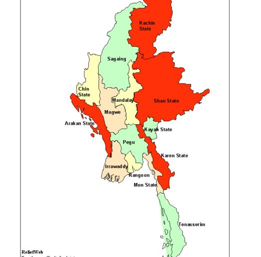 A Federal Burma Under The Existing State Boundary Would Disadvantage on bumthang map, hong kong map, yangtze river map, taiohae map, jakarta map, myanmar map, murang'a map, bandar seri begawan map, rangoon map, burma map, bangkok map, mekong river map, hanoi map, manila map, islamabad map, great wall of china map, naypyidaw map, taipei map, vientiane map, kuala lumpur map,