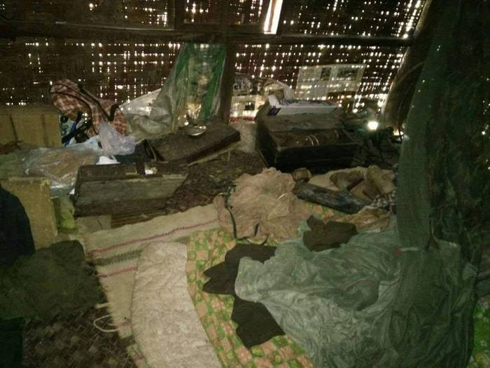 One of the houses looted by Burma Army soldiers PHOTO: Shan Human Rights Foundation