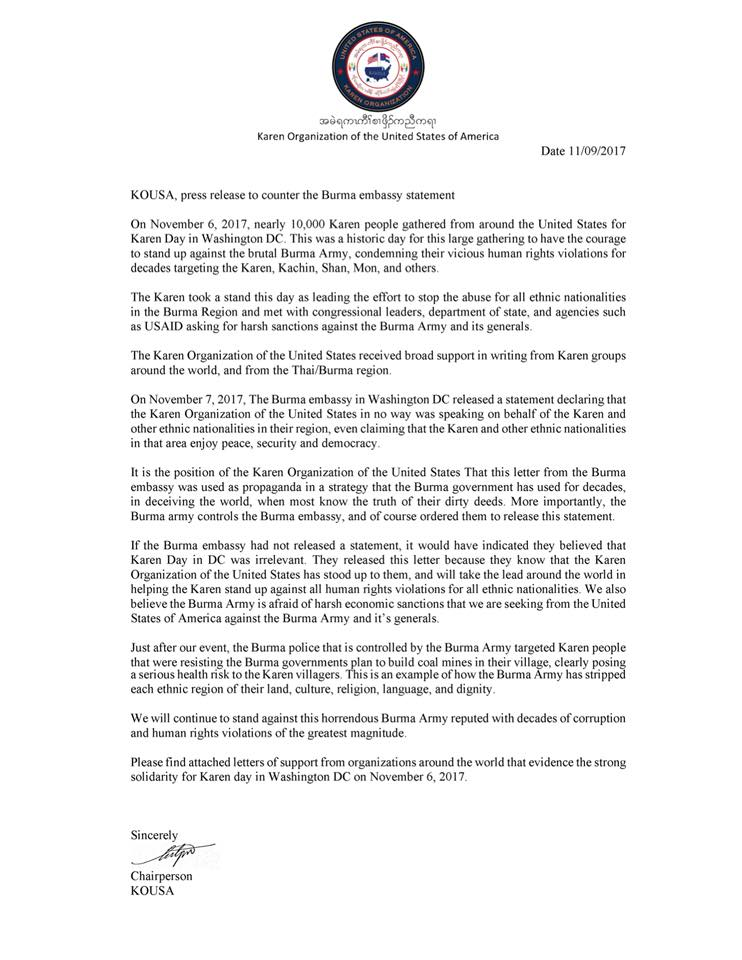 Press release to counter the burma embassy statement download statement jpg here thecheapjerseys Images